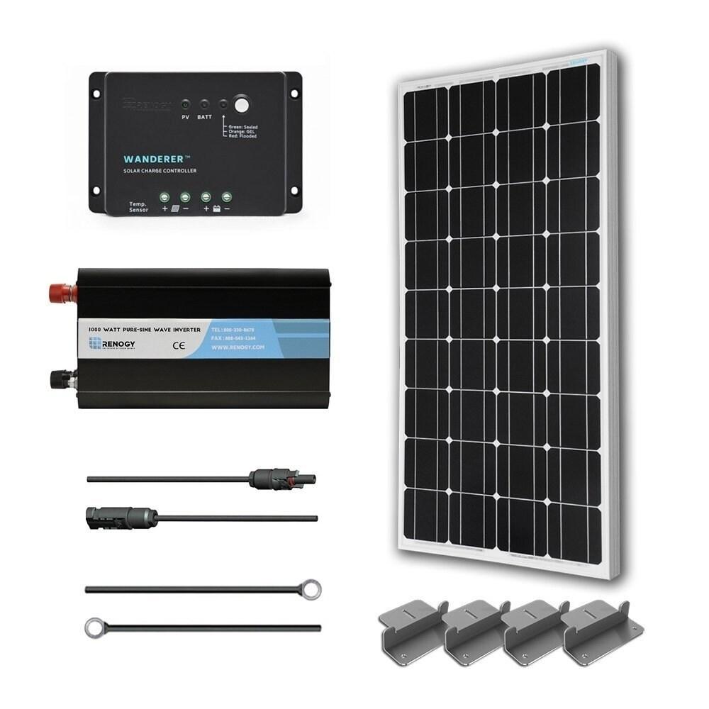 Renogy Complete Solar Kit:100W Monocrystalline 12V Batter...