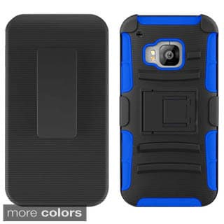 Insten Hard PC/ Silicone Dual Layer Hybrid Phone Case with Holster for HTC One M9