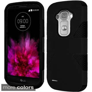 Insten White/Hot Pink Dynamic Hard PC/ Silicone Dual Layer Hybrid Rubberized Matte Phone Case Cover For LG G Flex 2