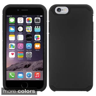 Insten Silver/Black Hard PC/ Silicone Dual Layer Hybrid Rubberized Matte Phone Case Cover For Apple iPhone 6