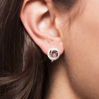 Simon Frank Silvertone Twirling Cubic Zirconia Earrings