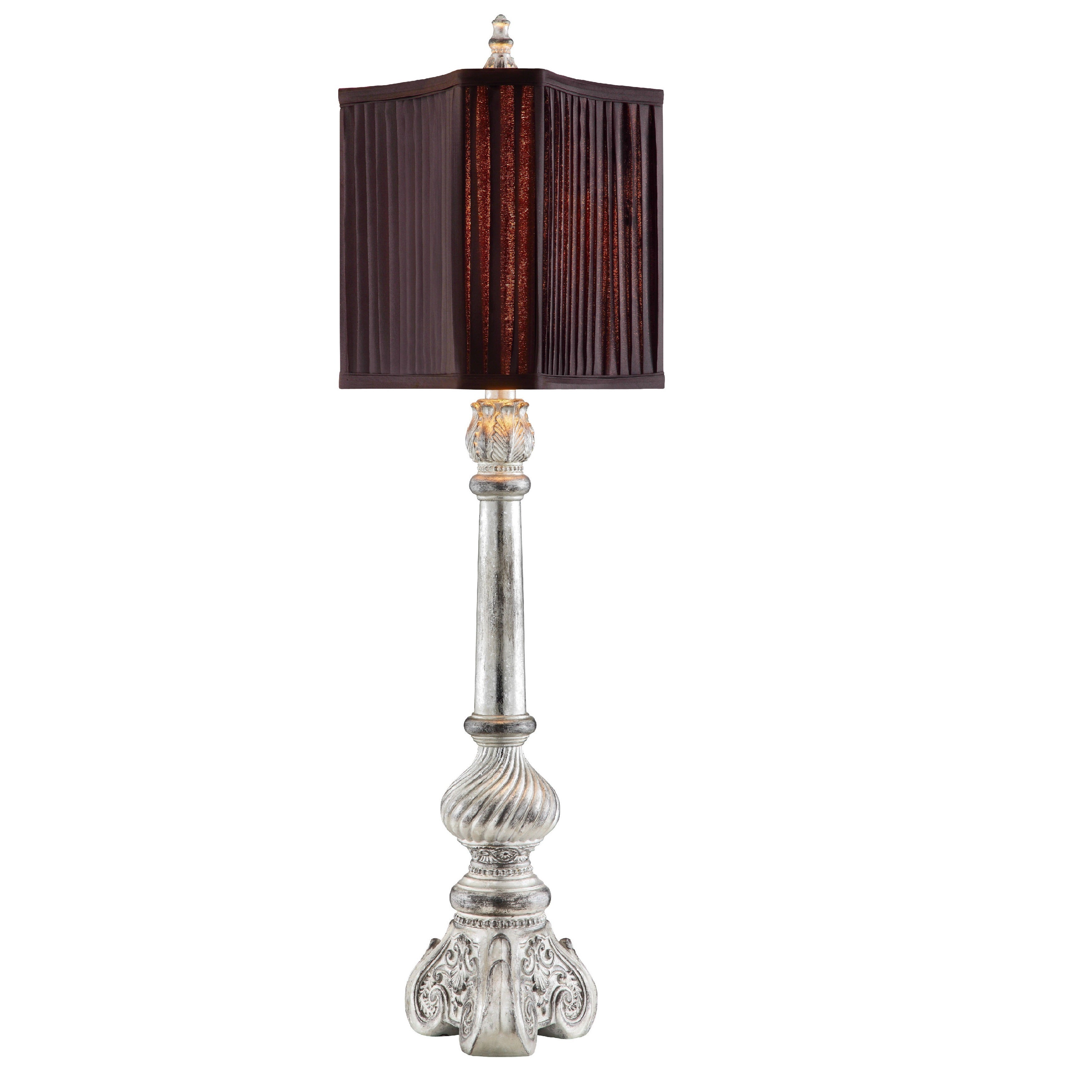ELK LIGHTING Lumiere Buffet Lamp (Pleated Shade Triangle ...