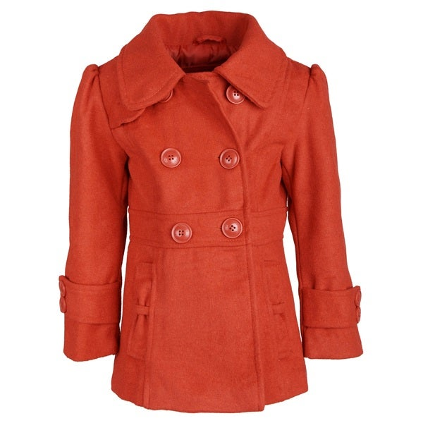 Pink Platinum Girls Double Breasted Fleece Jacket