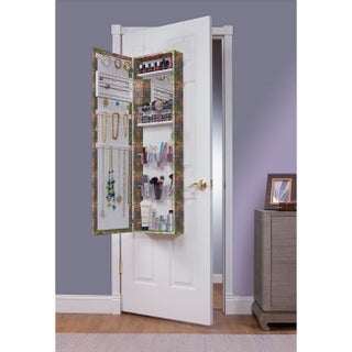 Maison Rouge Carroll Over the Door Combination Jewelry and Makeup Armoire (Option: Green)
