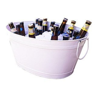 BREKX Great White Galvanized Beverage Tub