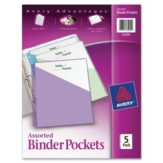 Avery Durable 3-Ring Poly Binder Pocket - 5/PK