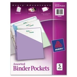 Avery Durable 3-Ring Poly Binder Pocket - 5/PK
