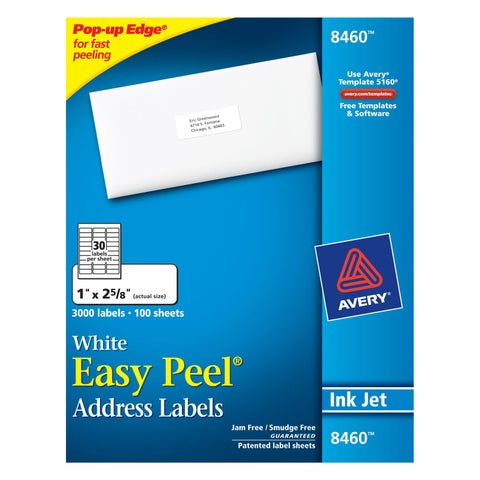Avery Easy Peel Mailing Label - 3000/BX