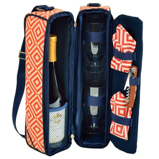 Picnic at Ascot Diamond Collection Sunset Wine Carrier for Two (Option: Orange)