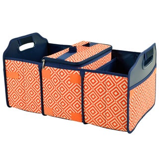 Picnic at Ascot Diamond Collection Trunk Organizer and Cooler Set