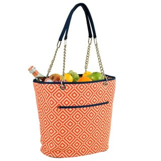 Picnic at Ascot Diamond Collection Fashion Cooler Tote (Option: Orange)