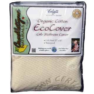 Colgate Organic Cotton Crib Fitted Waterproof Mattress Cover