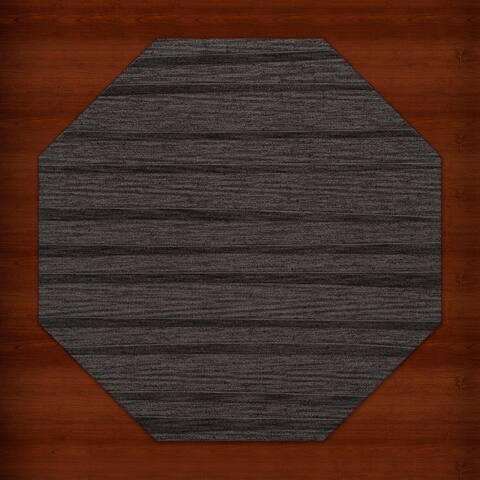 Newport Beach Stipe Octagon Wool Rug (10' x 10')
