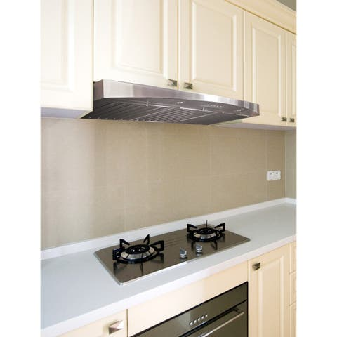"KOBE RA3830SQB-5 Deluxe 30"" Under Cabinet Range Hood, 3-Speed, 680 CFM, LED Lights, Baffle Filters"