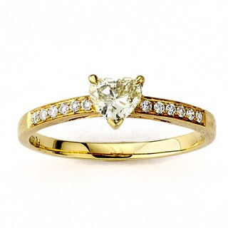 Neda Behnam Diamonds for a Cure 18K Yellow Gold Fancy Yellow and White Diamond Ring