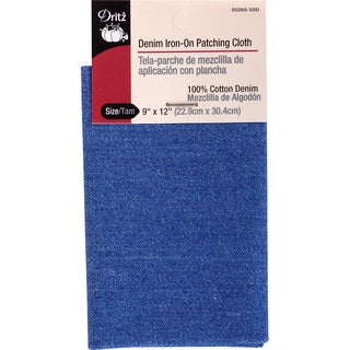 Denim IronOn Patching Cloth 9inX12in 1/PkgFaded Blue