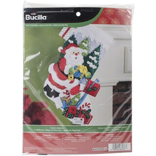 Santa's Mailbox Stocking Felt Applique Kit18in Long