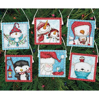 Frosty Friends Ornaments Counted Cross Stitch Kit16 Count Set Of 6