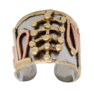 Handmade Abstract Mixed Metal Ring (India)