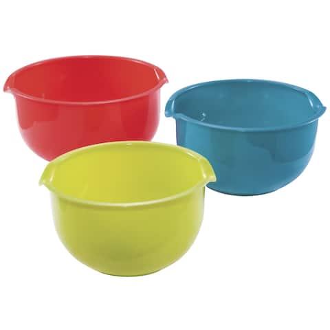 KitchenWorthy 3-piece Mixing Bowl Set (Case of 8)