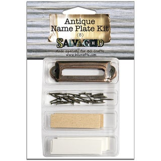 Salvaged Antique Name Plate Kit