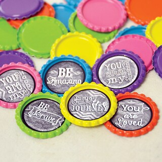 Vintage Collection Flattened Bottle Caps 1in 30/PkgBright