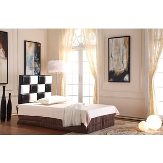 Modern Twin Black and White Tufted Headboard
