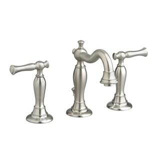 American Standard Quentin Widespread Bathroom Faucet 7440.851.295 Satin Nickel Bathroom Faucet
