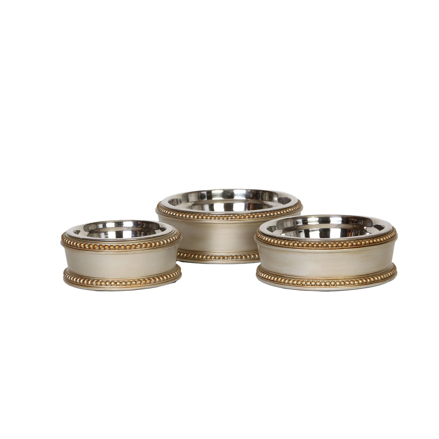 Unleashed Life Abbott Collection Stainless Steel Pet Food...