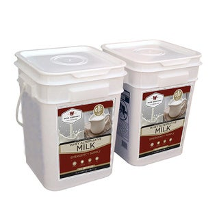 Wise Company Long-Term Powdered Milk (240 Servings) - Black - 11x10x15