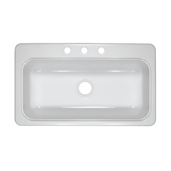 Designer 33 Inch By 19 Inch Single Acrylic 7 25 Inch Deep Kitchen Sink