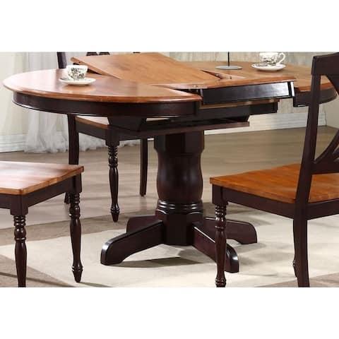 Iconic Furniture Company Whiskey/ Mocha Round Dining Table - Multi