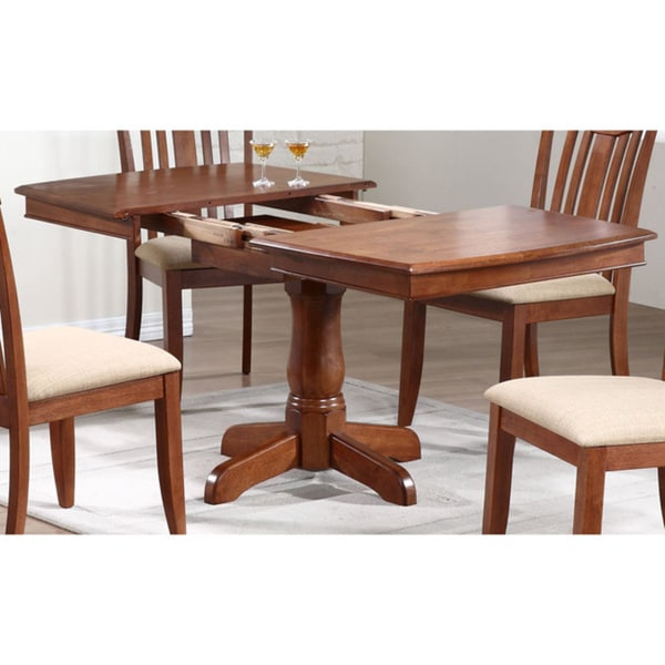 Iconic Furniture Cinnamon Boat Shape Dining Table Chestnut