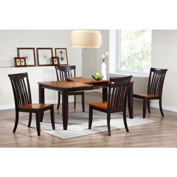 Iconic Furniture Mocha Whiskey Rectangle Dining Table Multi