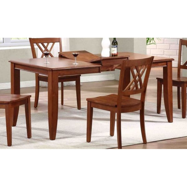 Iconic Furniture Cinnamon 36 X 52 67 Inch Rectangle Dining Table Chestnut Free Shipping Today 10123914