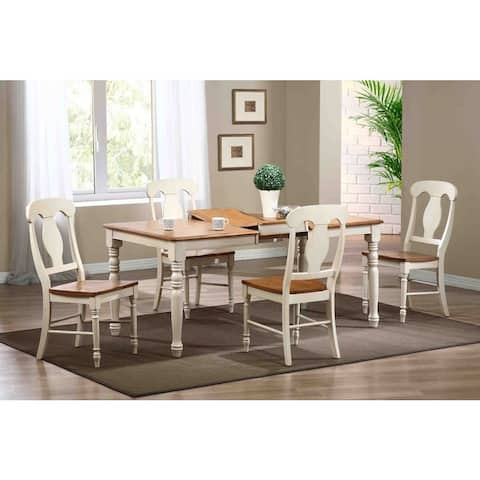Iconic Furniture Antique Biscotti/ Caramel Rectangle Dining Table - Multi