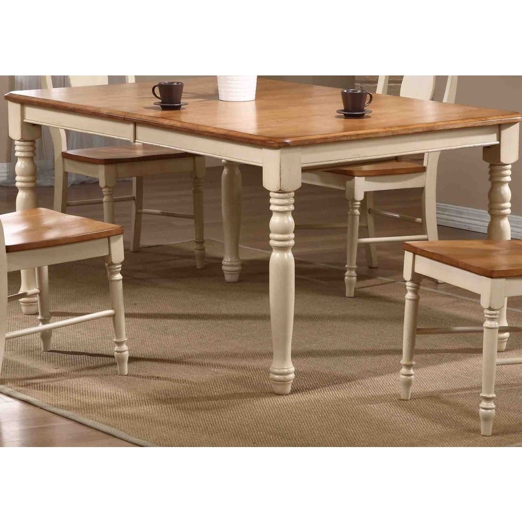 Iconic Furniture Antiqued Caramel Biscotti 40 X 60 X 78 Inch Rectangle Dining Table Multi Overstock 10123918