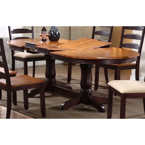 Iconic Furniture Whiskey/ Mocha Oval Dining Table - Free Shipping