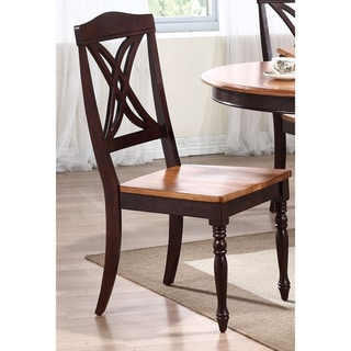 Iconic Furniture Whiskey/ Mocha Butterfly Back Dining Side Chair (Set of 2)