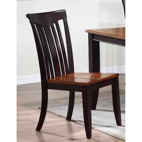 Iconic Furniture Whiskey/ Mocha Modern Slat Back Dining Chair (Set of 2)