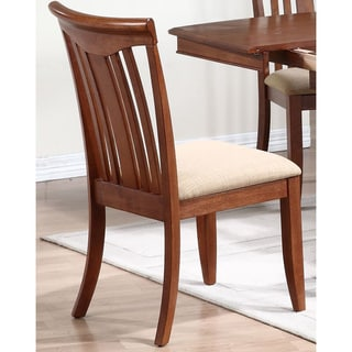 Iconic Furniture Cinnamon Modern Slat Back Dining Side Chair (Set of 2)