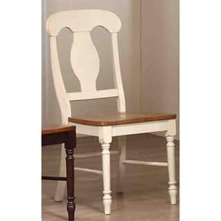 Iconic Furniture Antiqued Caramel/ Biscotti Napoleon Dining Chair (Set of 2)