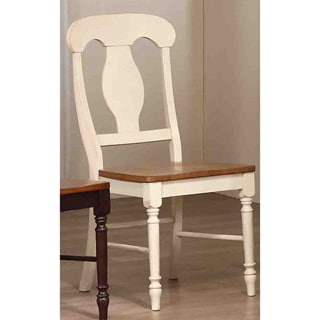 Iconic Furniture Antiqued Caramel/ Biscotti Napoleon Dining Side Chair (Set of 2)