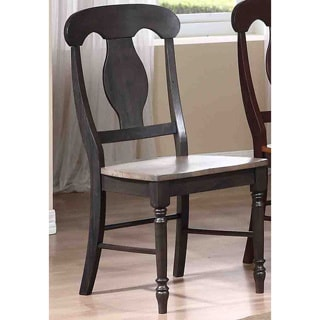 Iconic Furniture Grey Stone/ Black Stone Napoleon Dining Side Chair (Set of 2)