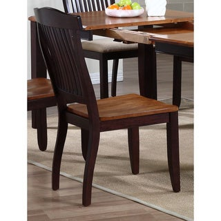 Iconic Furniture Whiskey/ Mocha Open Slat Back Dining Side Chair (Set of 2)