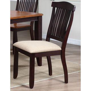 Iconic Furniture Whiskey/ Mocha Open Slat Back Dining Side Chair (Set of 2)
