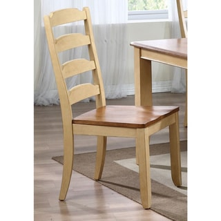 Iconic Furniture Honey/ Sand Ladder Back Dining Side Chair (Set of 2)