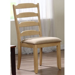Iconic Furniture Whiskey/ Sand Ladder Back Dining Side Chair (Set of 2)