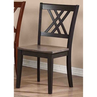Iconic Furniture Grey Stone/ Black Stone Double X-Back Dining Side Chair (Set of 2)