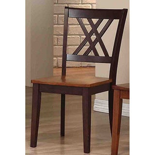Iconic Furniture Whiskey/ Mocha Double X-Back Dining Side Chair (Set of 2)